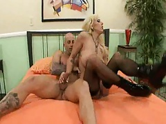 Lilith getting sideways fucked in pantyhose