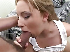 Blowjob and sucking balls with spicy Christie Lee