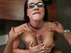 Big tits principal at school fucked in her own office