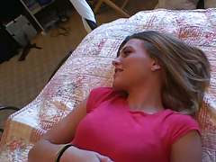 Cute teen on home video Kasey Chase
