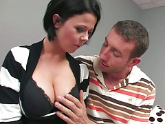 Undressing big tits Loni Evans and taking off mans pants
