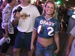 Dancing up amateurs and street public booby flashing