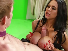 Big dick titty fuck with sexy milf Louise Jensen
