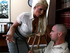 BIg tits Sadie makes a junior exec please her at work