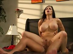 Big tits Jenna Presley sits on cock humping it hard