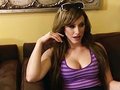 Undressing Jennifer White preparing for her private oil massage