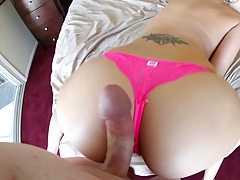 Pov view of ass Katie Jordan and big dick dude