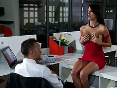 Kortney Kane a busty babe in a tight dress sucks and fucks dick