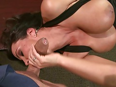 Lisa makes out and pussy upskirt licked