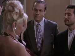 Blonde Stacy Valentine fully clothed dinner party