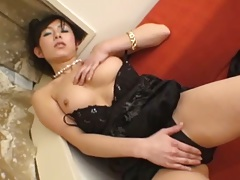 Masturbation asian girl also sucking dudes finger
