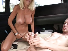 Big tits Puma Swede sits on cock reverse cow girl