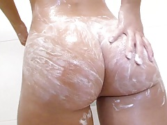 Shower soap time with Jessie Rogers getting cleaned up
