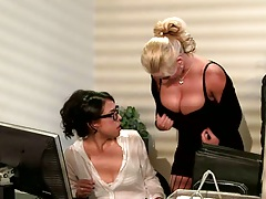 Phoenix Marie on big tits at work
