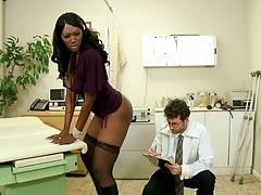 Hot black babe Nyomi Banxxx shaking her ass