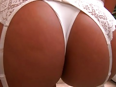 Nice ass milf lingerie babe Aline solo shot