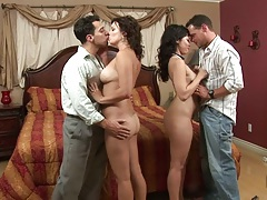 Wife swapping couple with milfs Leilani Lee and Bailey Brooks