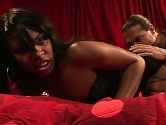 Ebony Vanessa Monet pussy fingering and blowjob