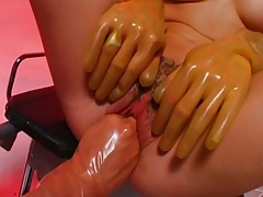 Fetish fingering and hairy sex with skinny Sandra Del Marco and Lucy Law